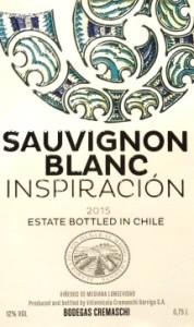 Inspiracion Sauvignon Blanc Chile 2015